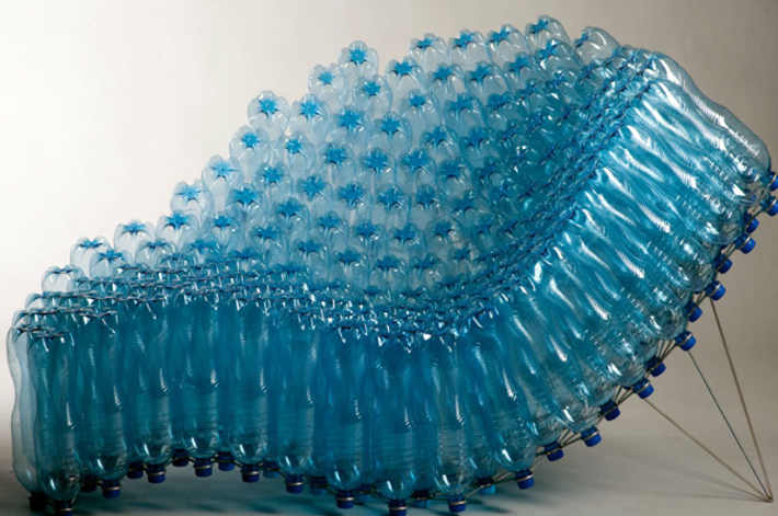 recycled plastic bottle chair